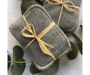 Lot de 3 lingettes lavables en coton gris de Hissala - Lifestyle
