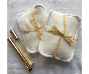 Lot de 3 lingettes lavables en coton blanc de Hissala - Lifestyle