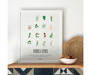 Affiche Herbes & Épices cadre memory Affiches