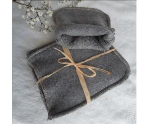 Mini-gants Caresse Gris lot de 3 - Produit