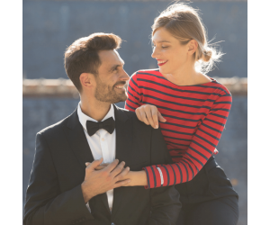 La marinière rouge femme par Le Chic Français