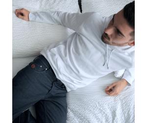 Jeans semi-slim Homme par Chevrons
